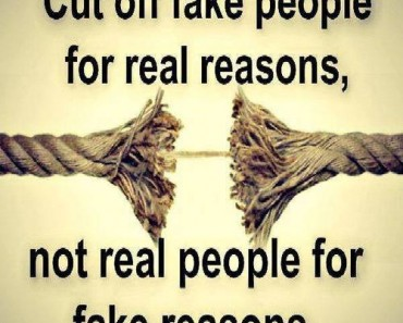 Cut of fake people for real reasons